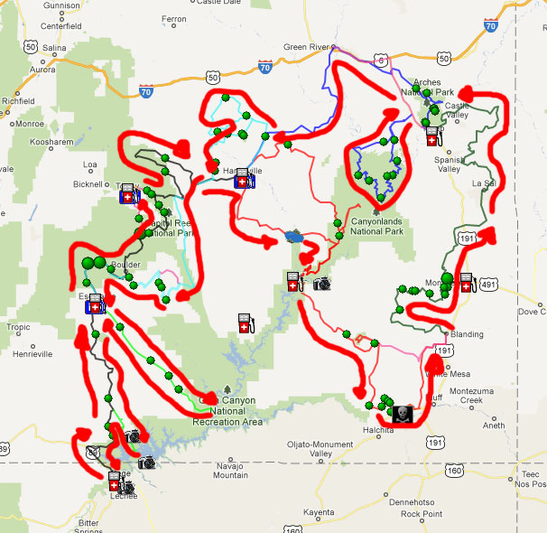 map of sedona az area with Utah 6 Days Need Input on Page likewise Arizona And The Grand Canyon besides Bike Skills Park further Directions besides Dead Horse Ranch State Park Map.